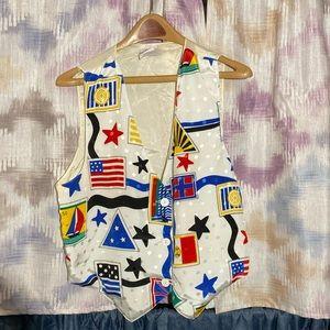 Tops - Cultural Flag Stamp Vest